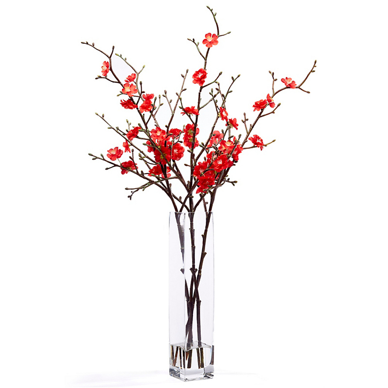 Red Quince Blossom Arrangement