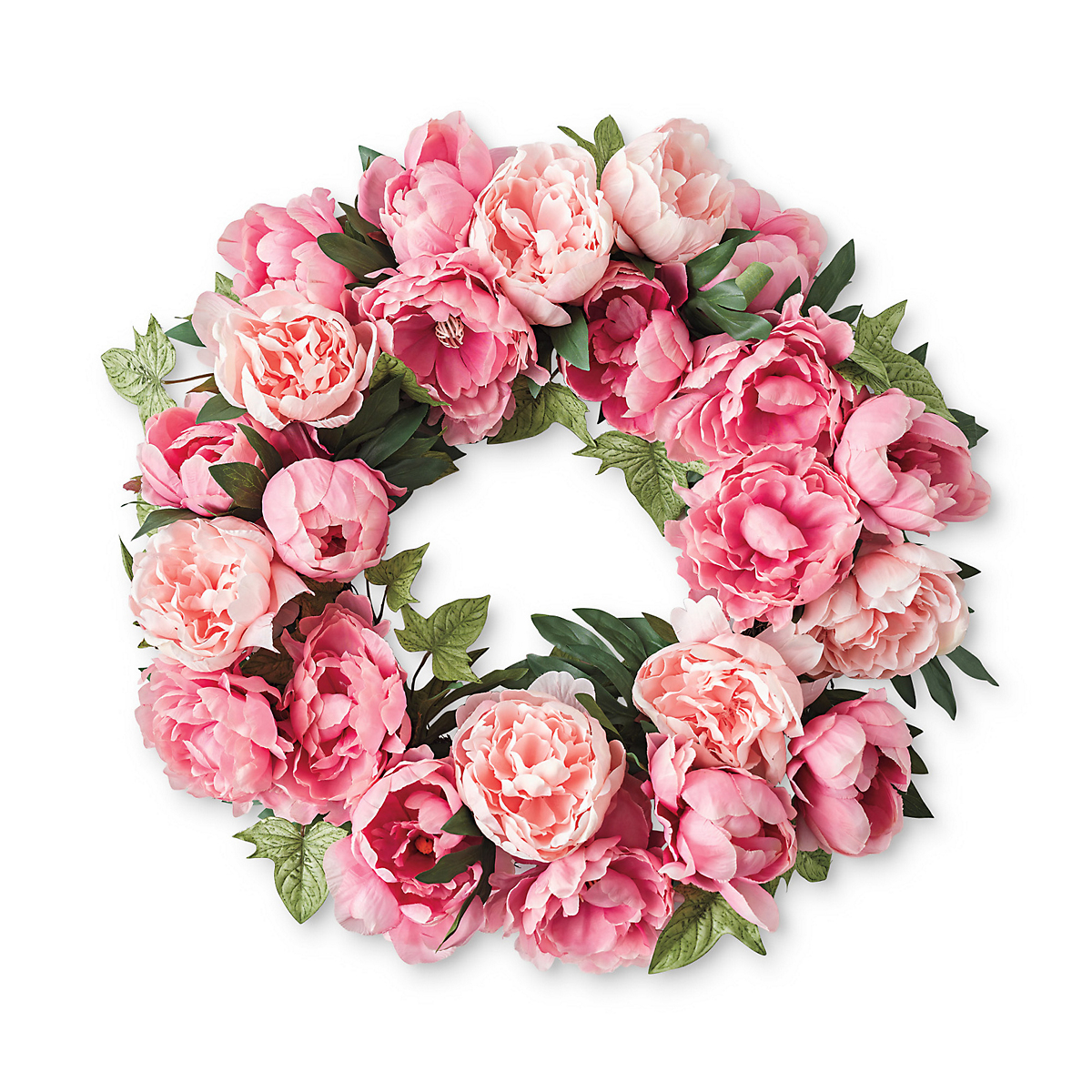 Heirloom Peony Wreath