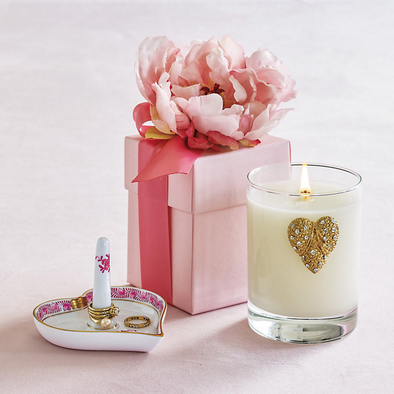 Swarovski-Embellised Heart Candle