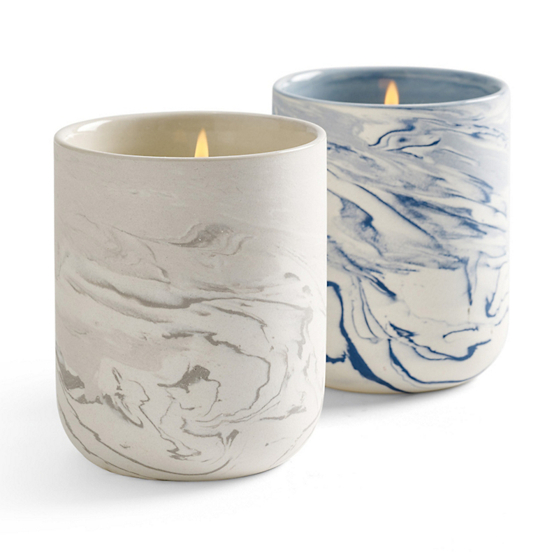 Marbleized Candle Jars