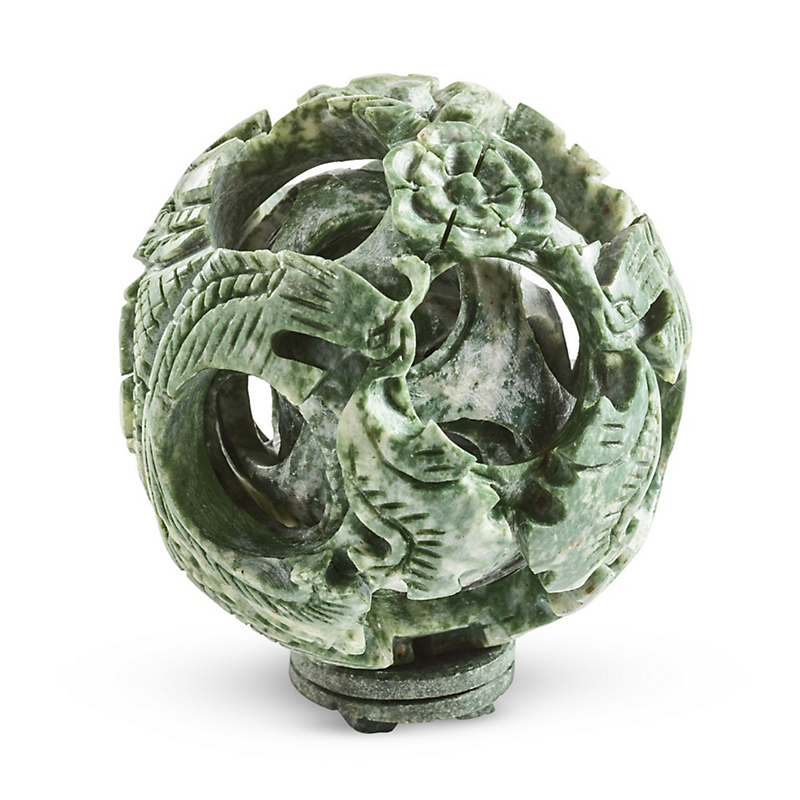 Green Carved Dragon Ball