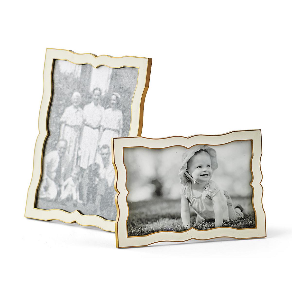 Portofino White Enamel Frames | Gump\'s