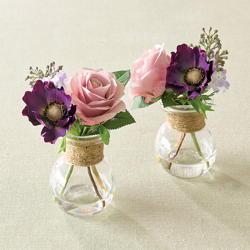 Marion Rose Bouquets, Set Of 2