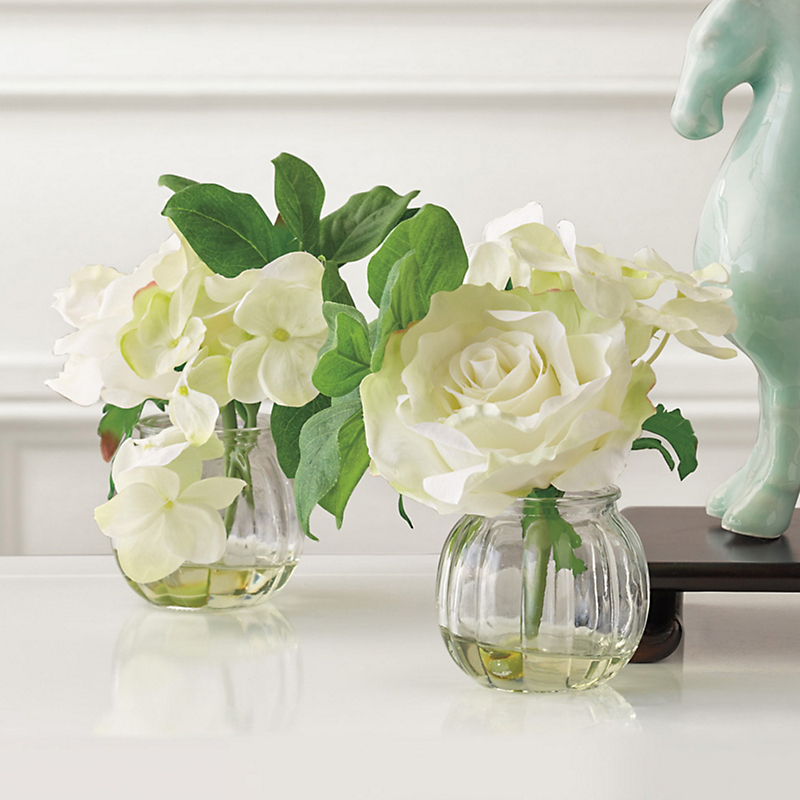 Clarissa White Rose Bouquets, Set Of 2