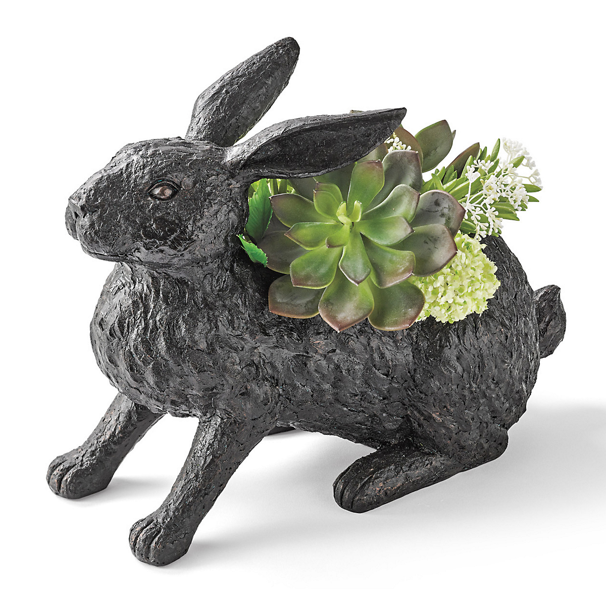 Bunny Planter With Succulents