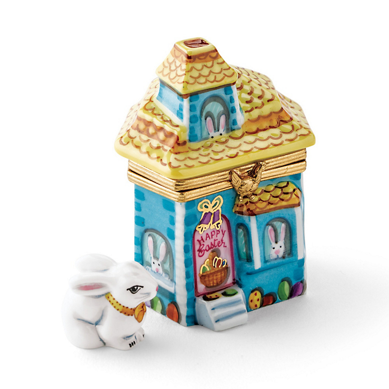 Limoges Easter Bunny Family House
