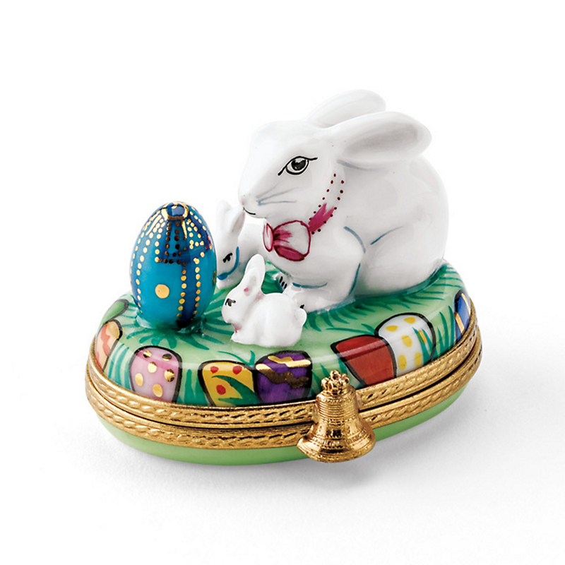 Limoges Easter Mrs. Bunny & Little Ones