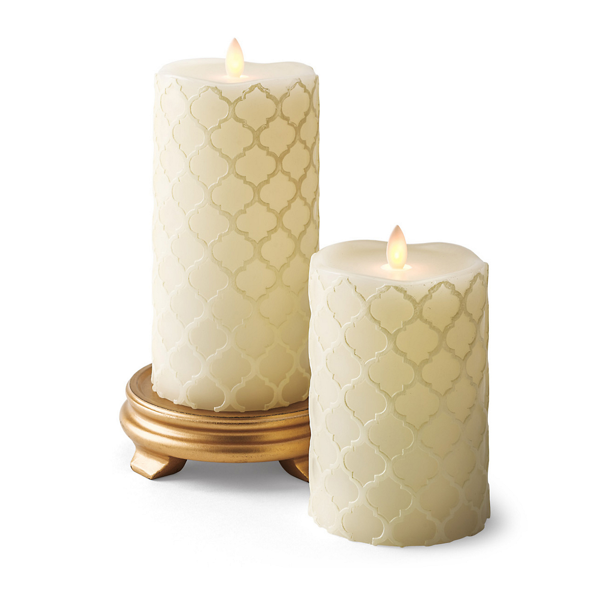 Quatrefoil Flameless Candles