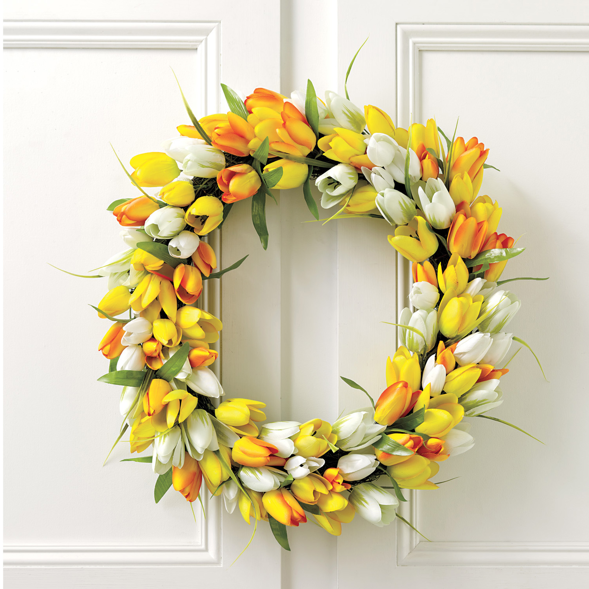 Golden Tulip Summertime Wreath