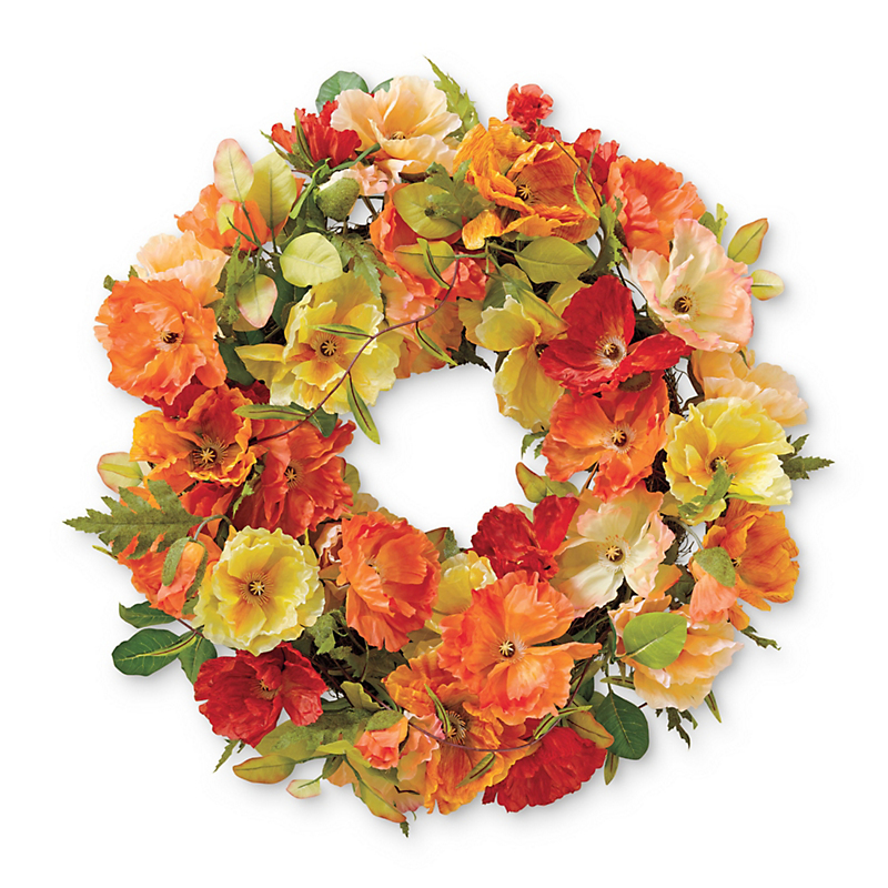 Sunshine Poppy Summertime Wreath