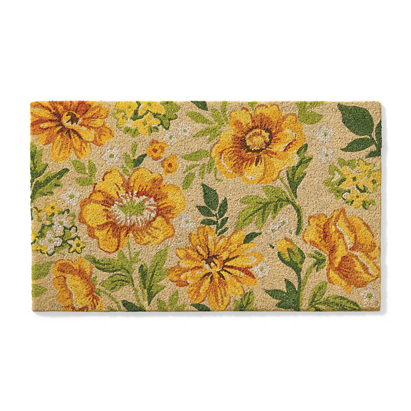 Summer Dahlia & Poppy Doormat