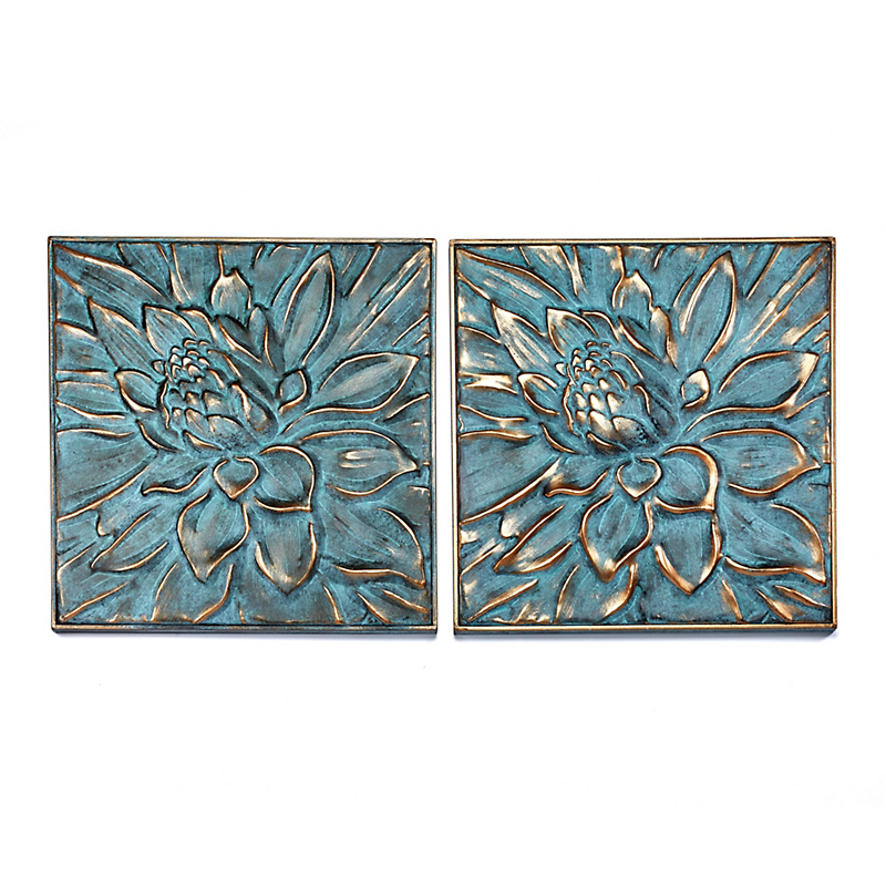 Metal Lotus Garden Wall Decor