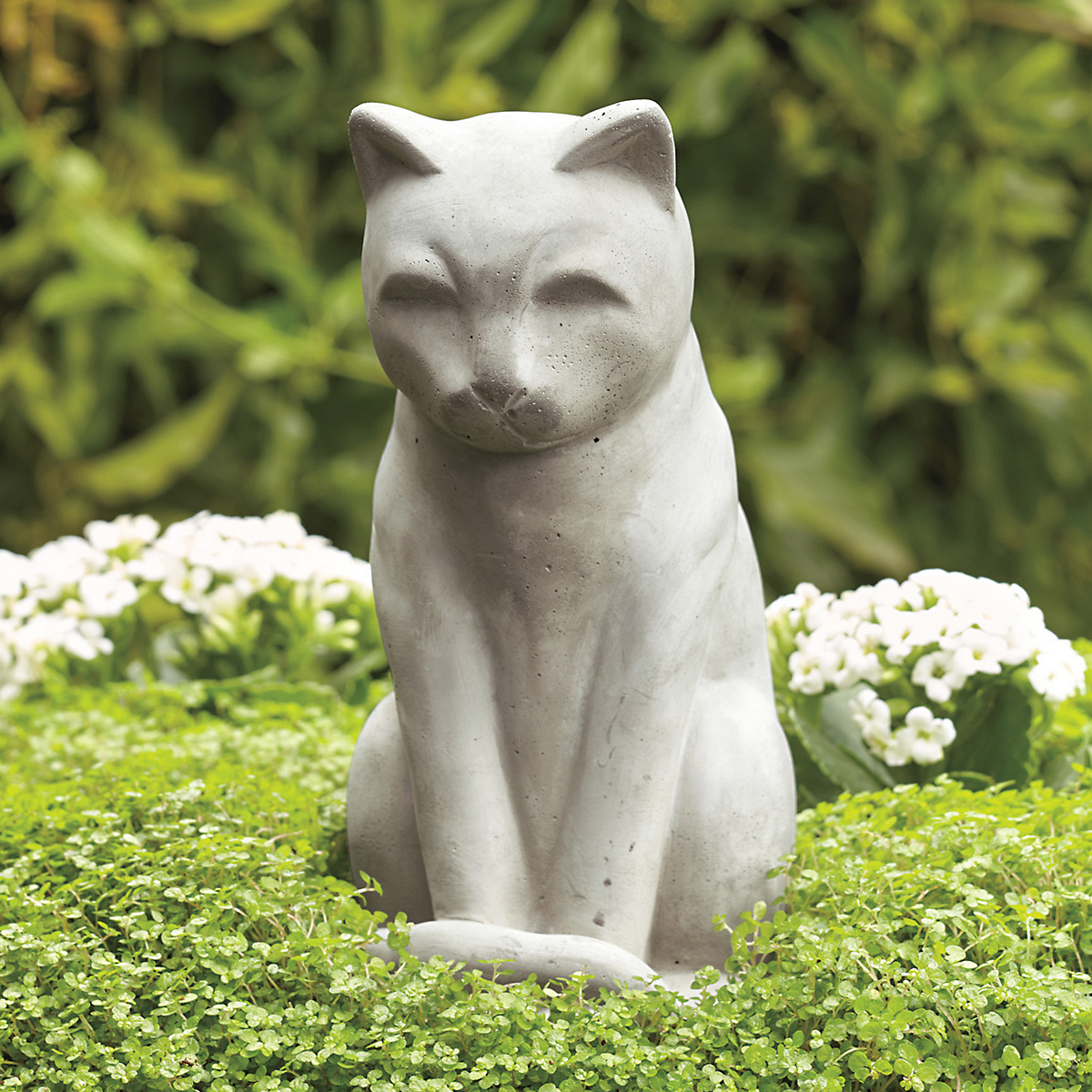 Japanese Garden Cat Sculpture