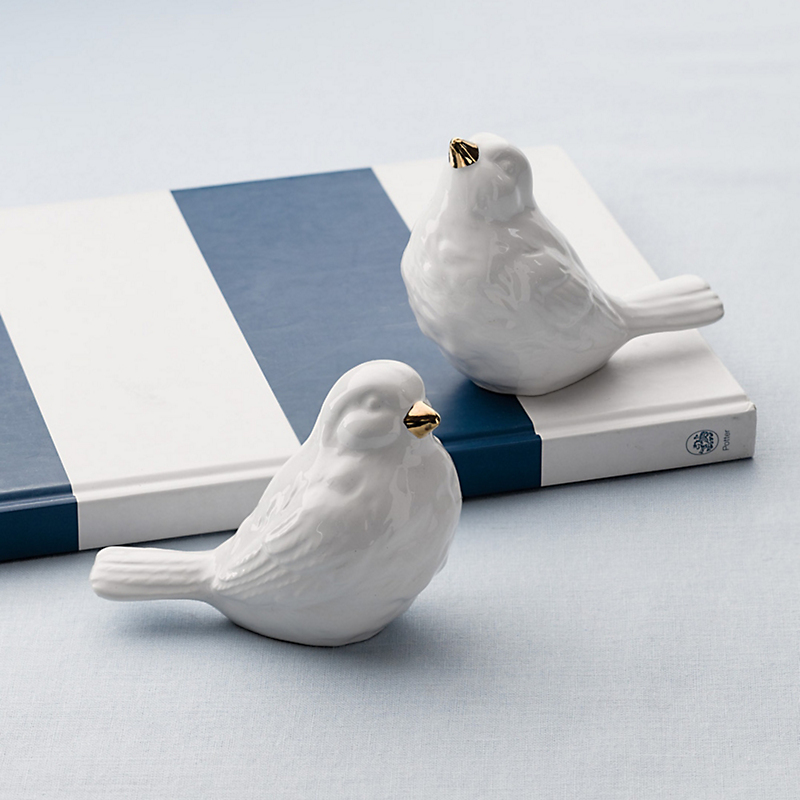 Ceramic Songbirds, Set Of 2