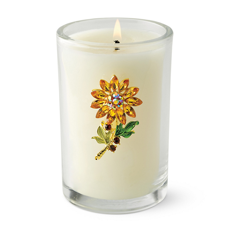 Swarovski Golden Flower Candle