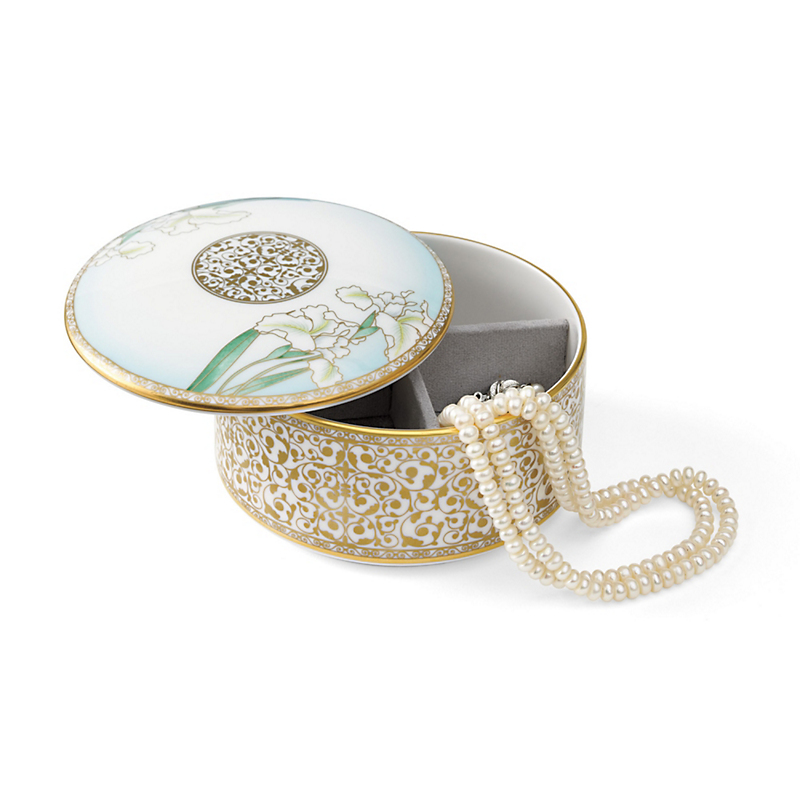 Iris Bone China Jewelry Box