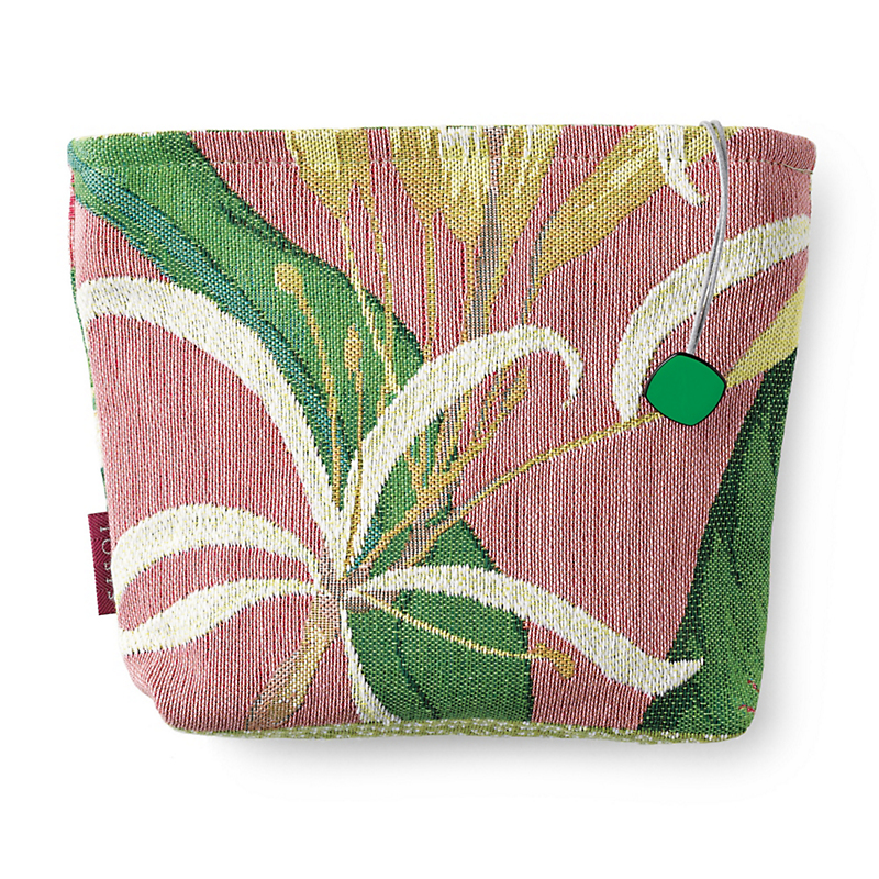 White Lily French Tapestry Cosmetic Bag