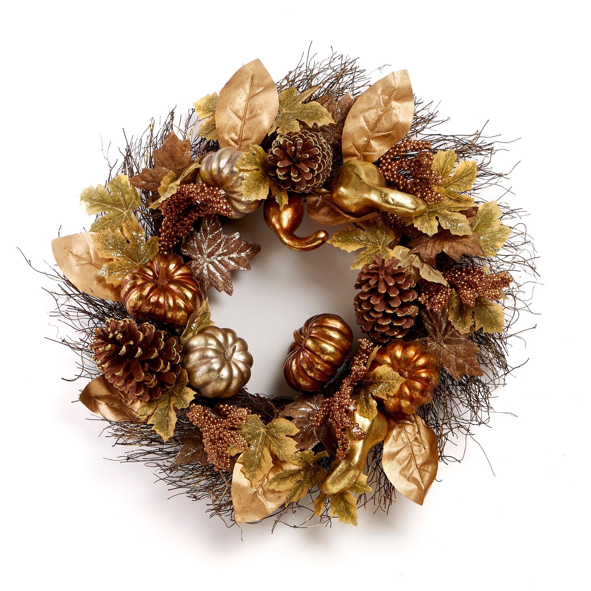 Half Moon Bay Pumpkin Wreath