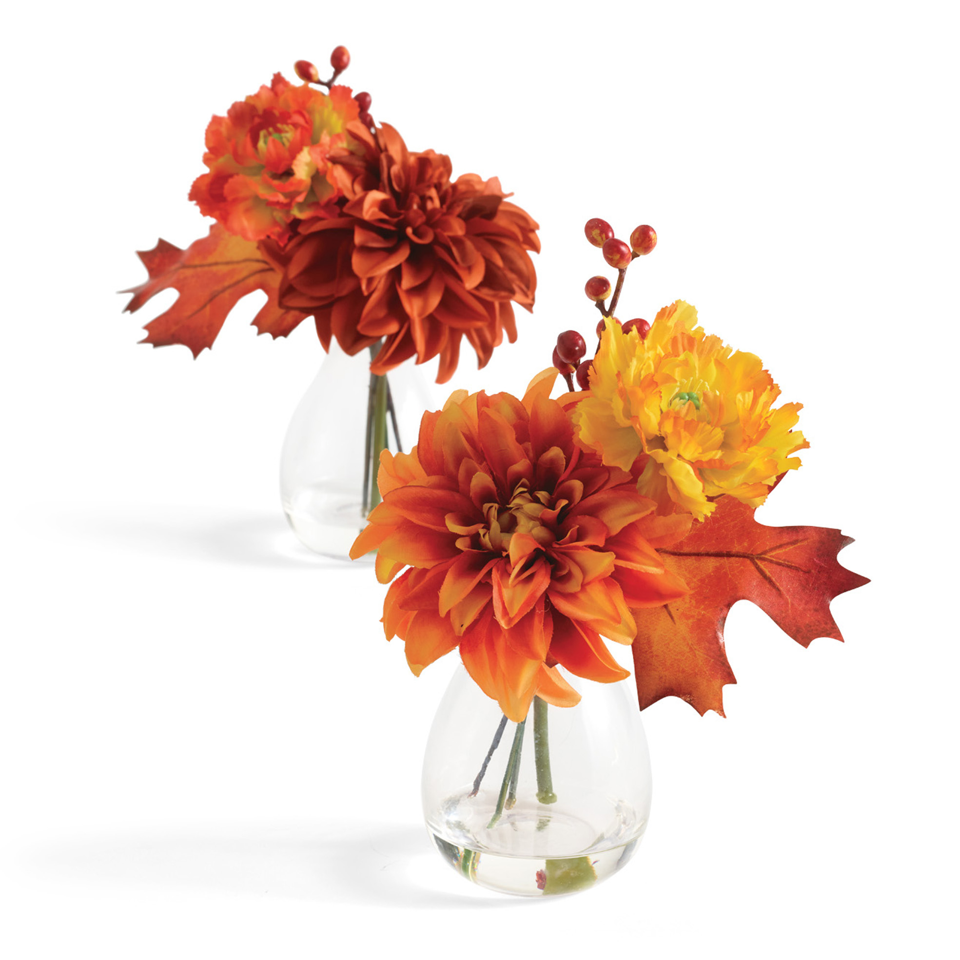 Sunset Dahlia Bouquets, Set Of 2
