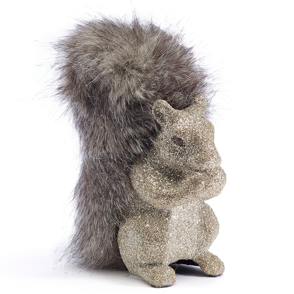 Fancy Silver Forest Squirrel Figure