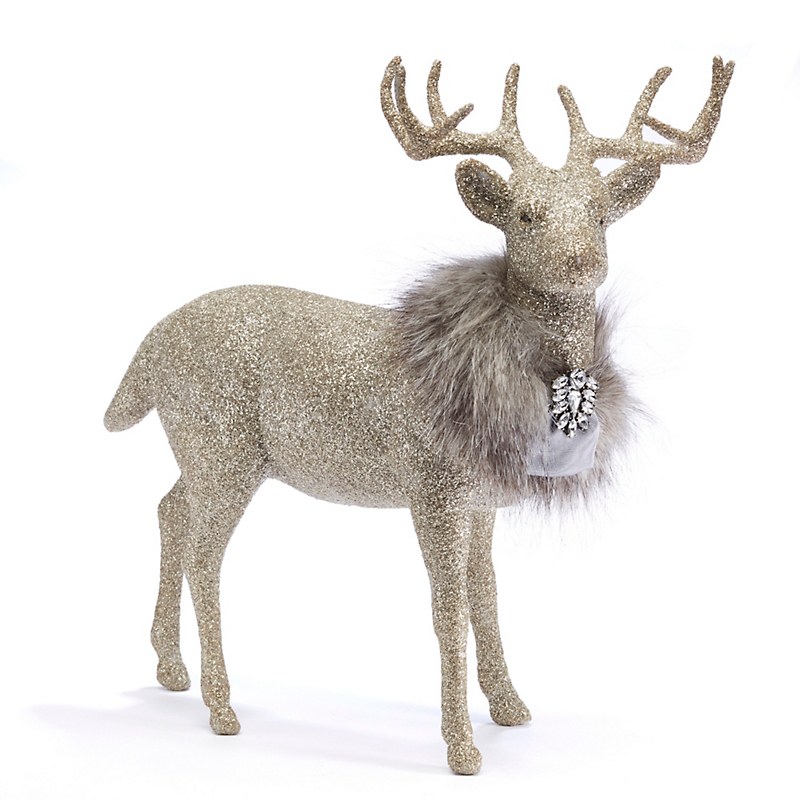 Fancy Silver Forest Prancer Figure