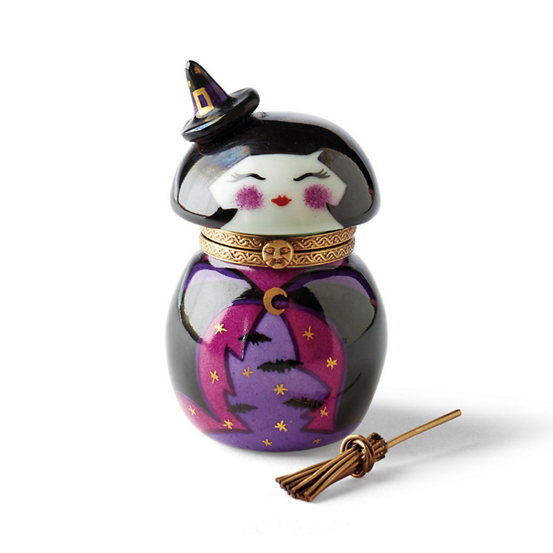 Limoges Spirited Kokeshi Witch