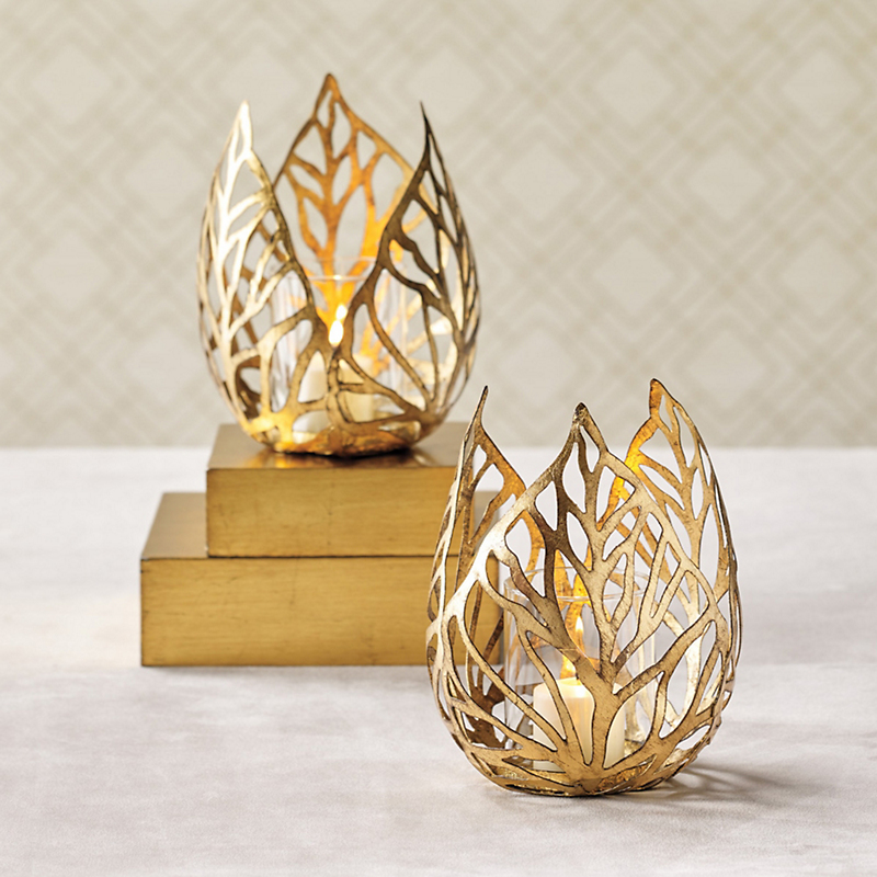 Gold Flame Candleholder