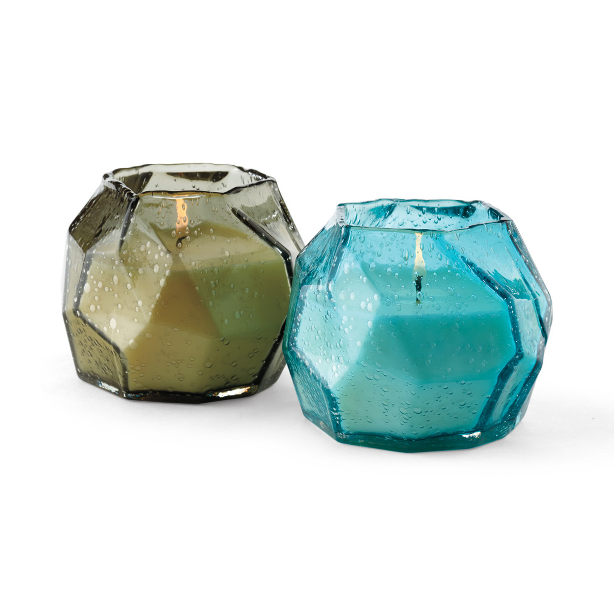 Geo Glass Poured Candles