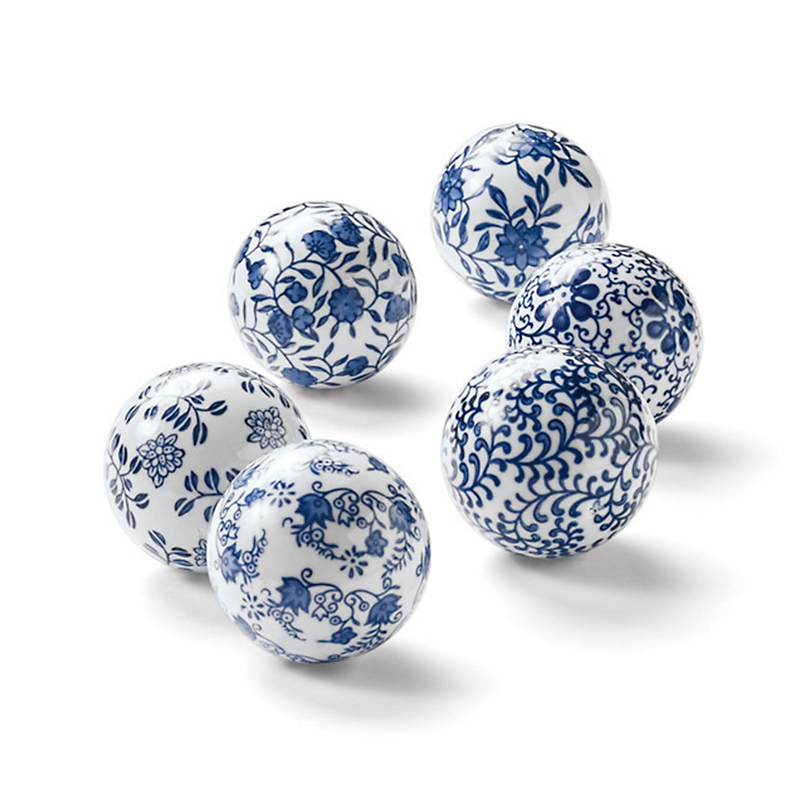 Blue & White Ceramic Orbs