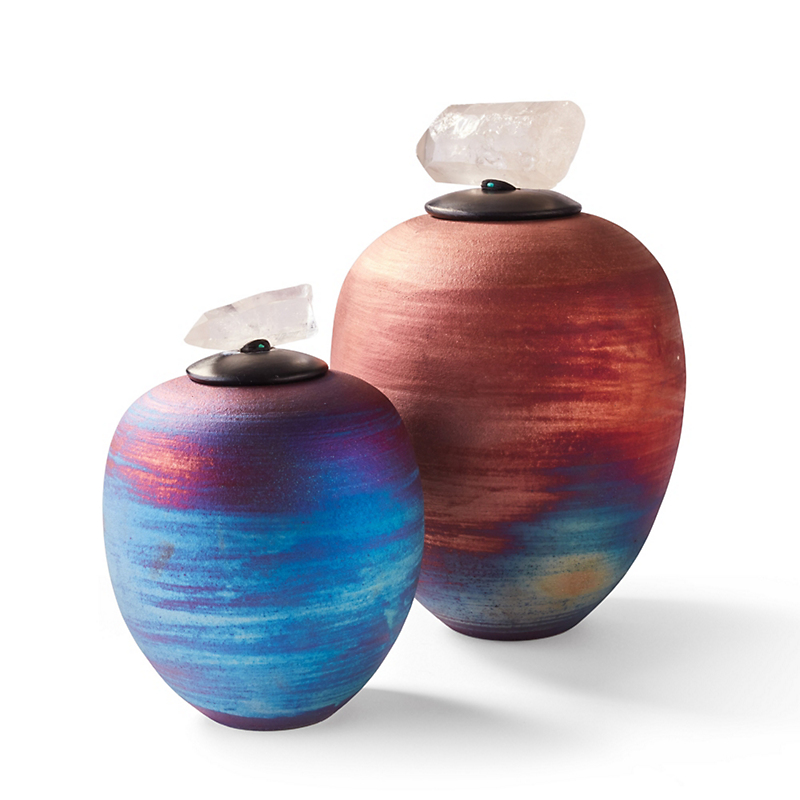 Multi-Bronze Raku Jars