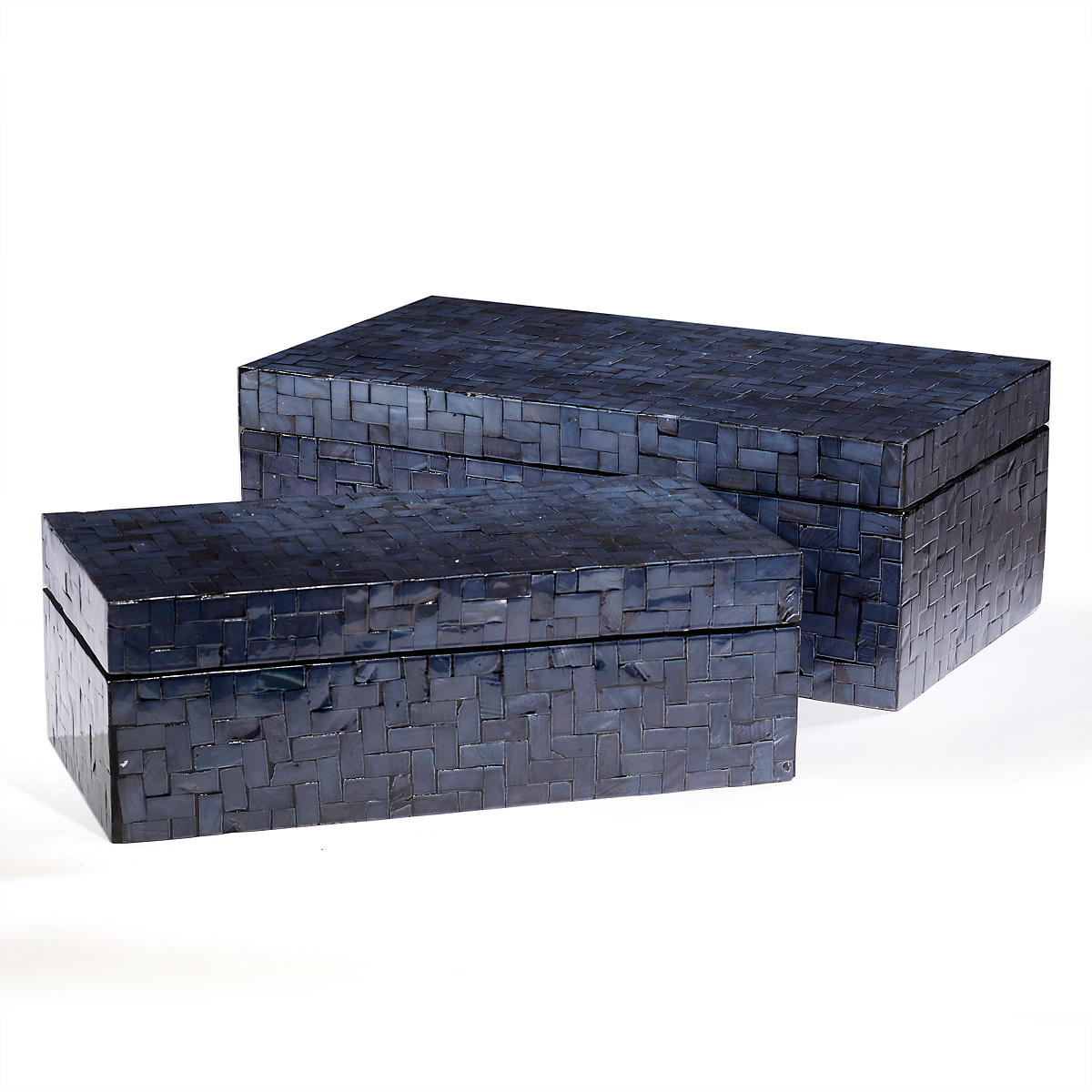 Midnight Blue Mother-Of-Pearl Boxes