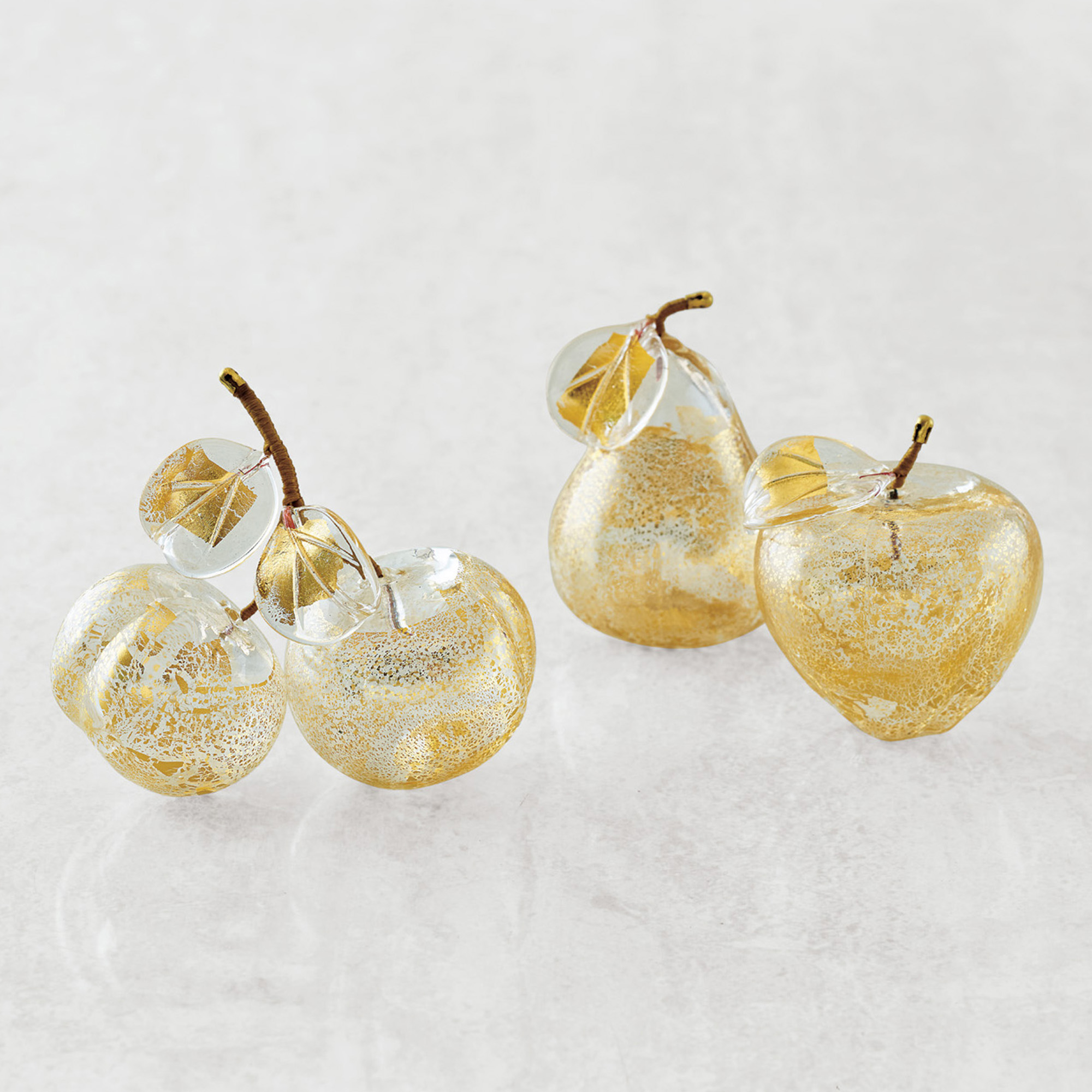 Murano Golden Fruit Set