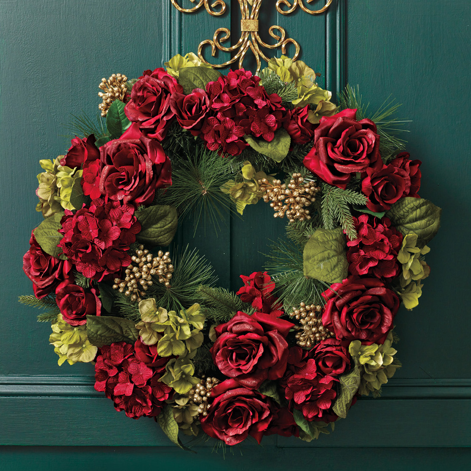 Royal Burgundy Wreath