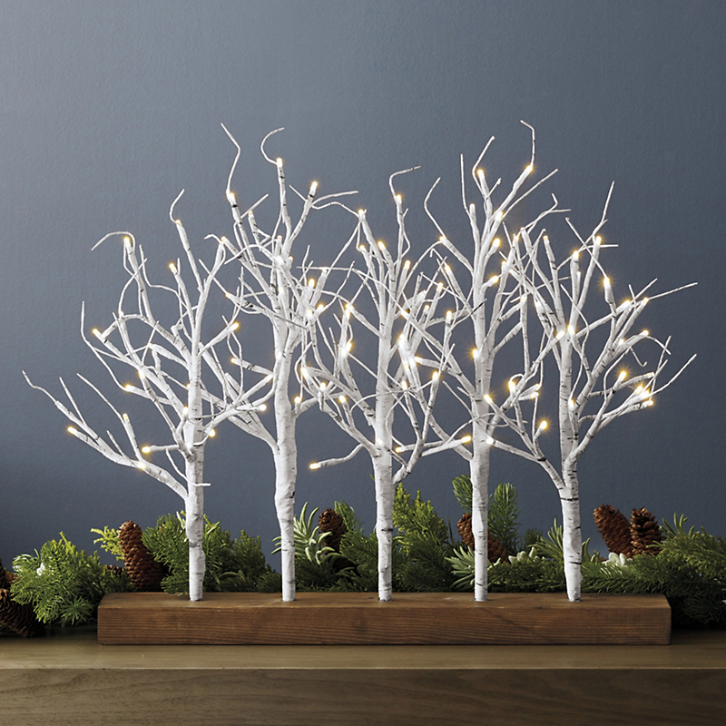 White Birch Pre-Lit Tabletop Trees