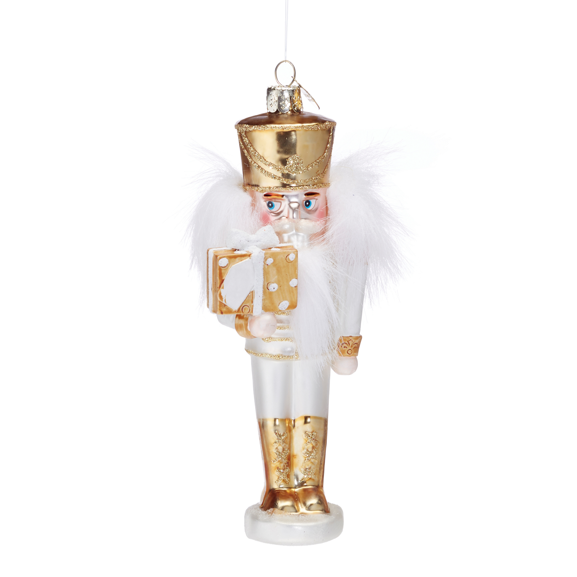 Winter Wonderland White & Gold Nutcracker Ornament