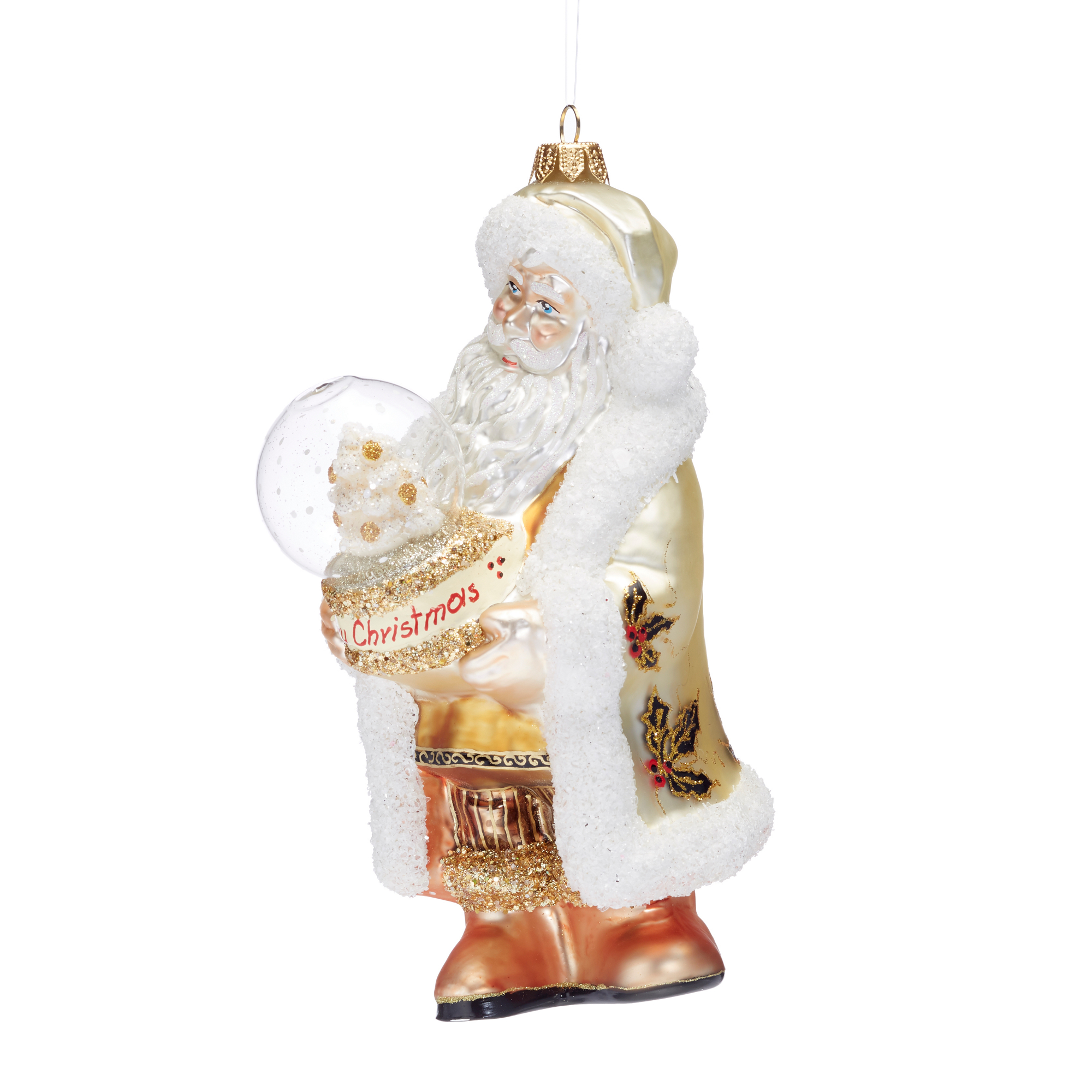 Winter Wonderland Santa With Snowglobe Ornament