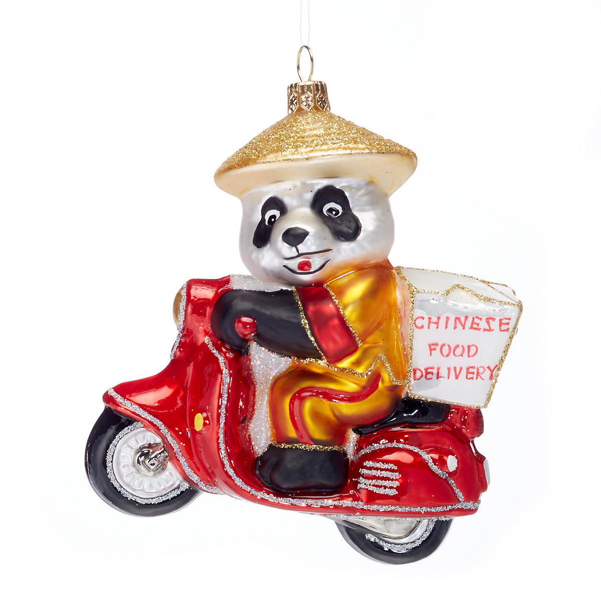Delivery Panda Christmas Ornament