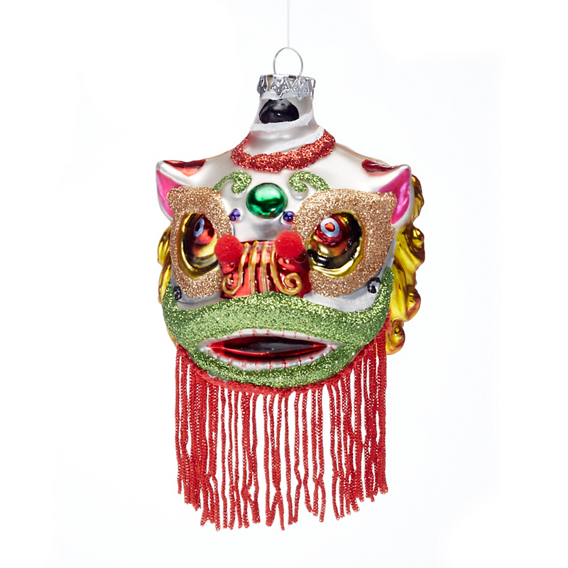 Chinese Lion Mask Christmas Ornament