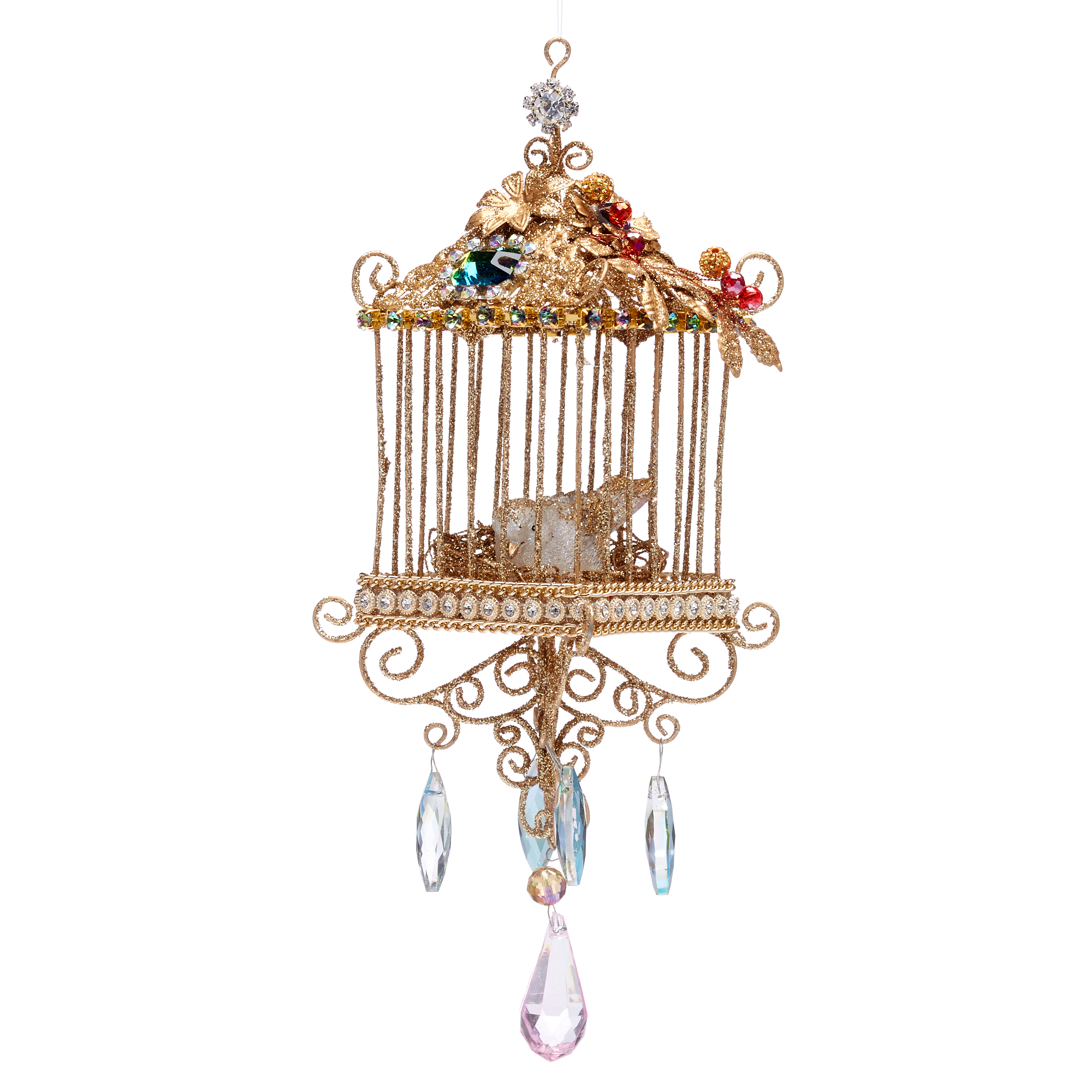 Bohemian Square Birdcage Ornament