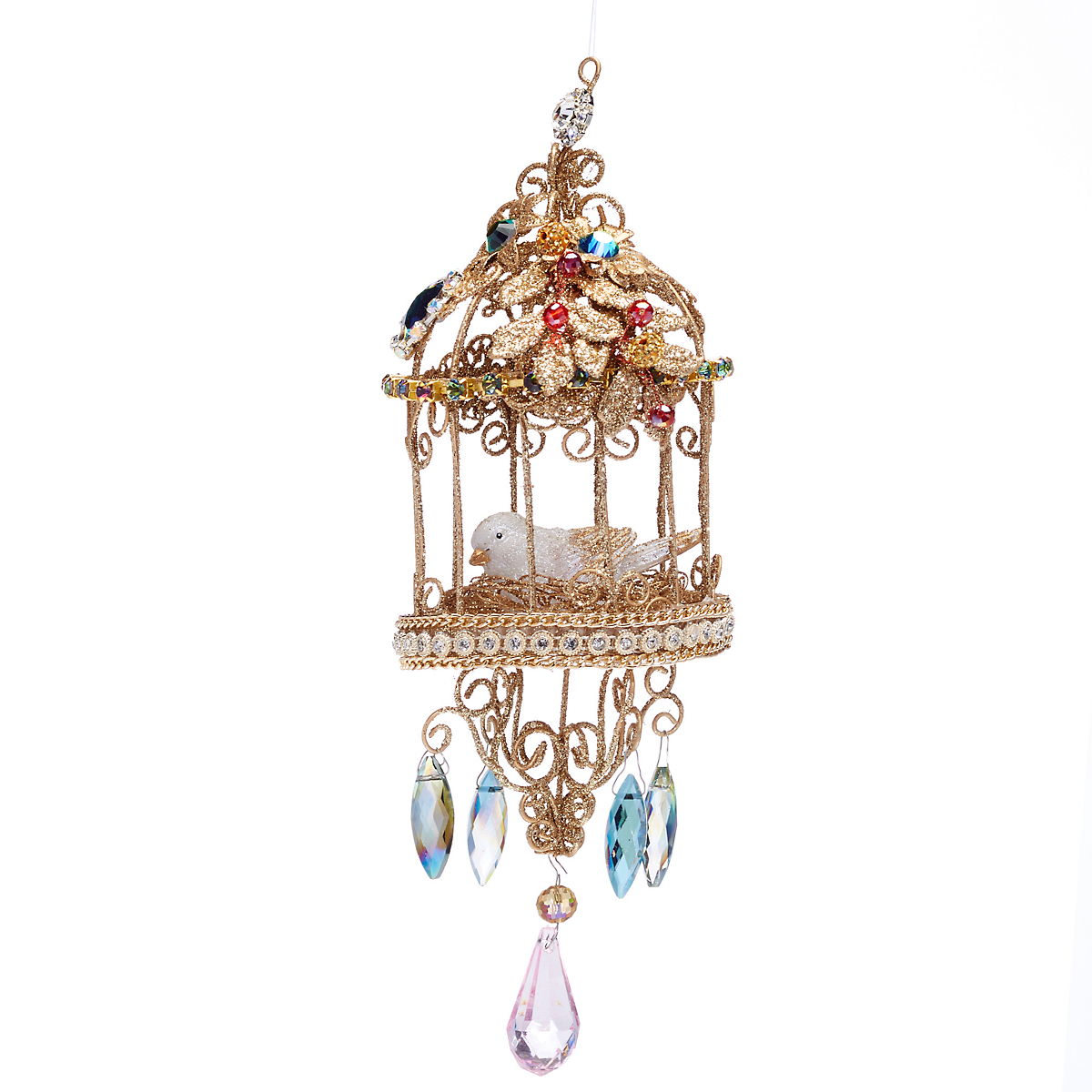 Bohemian Round Birdcage Ornament