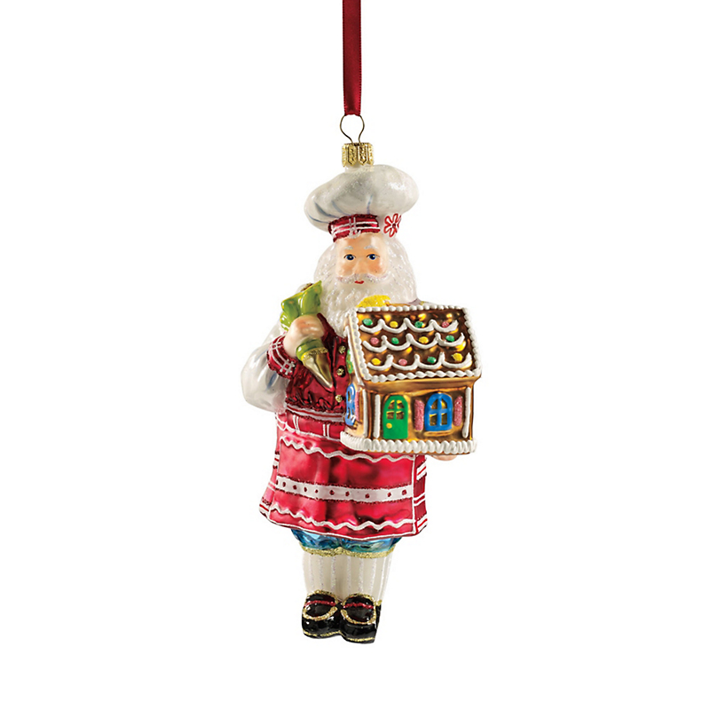 Chef Santa Ornament