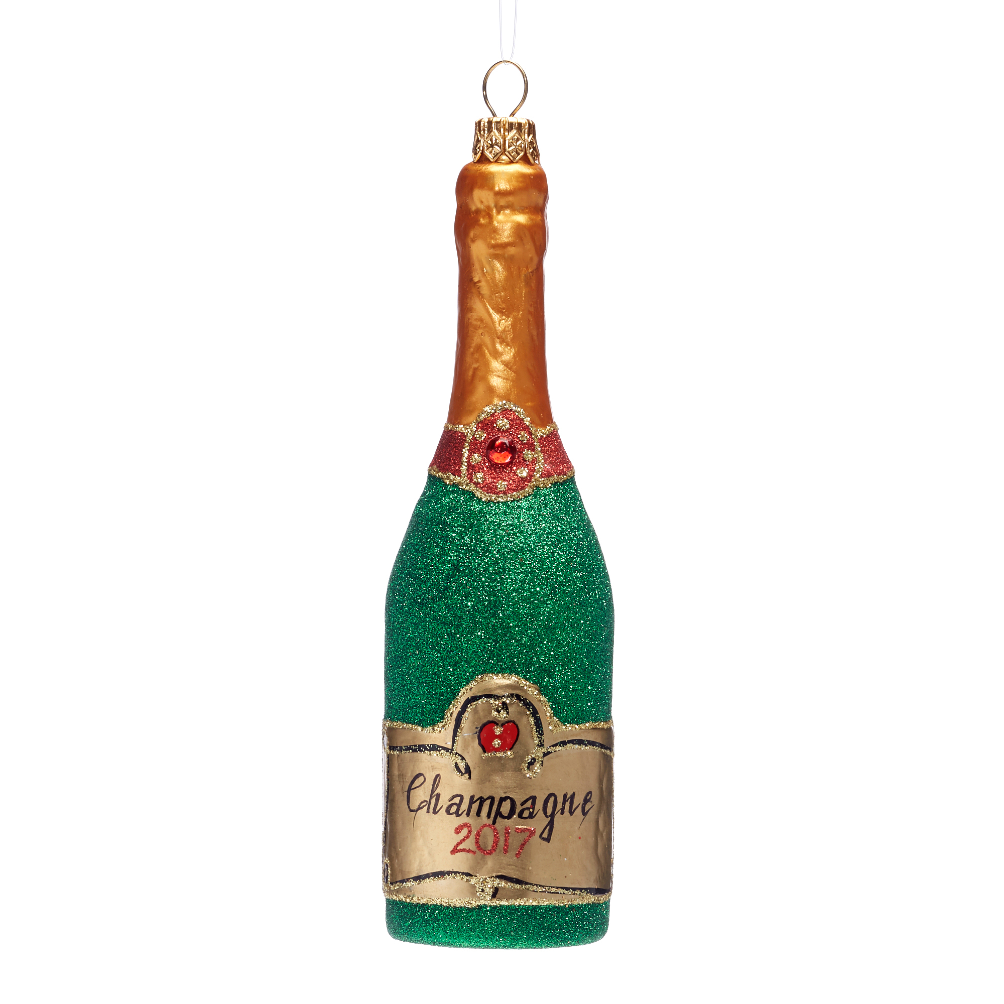 Champagne Bottle Christmas Ornament
