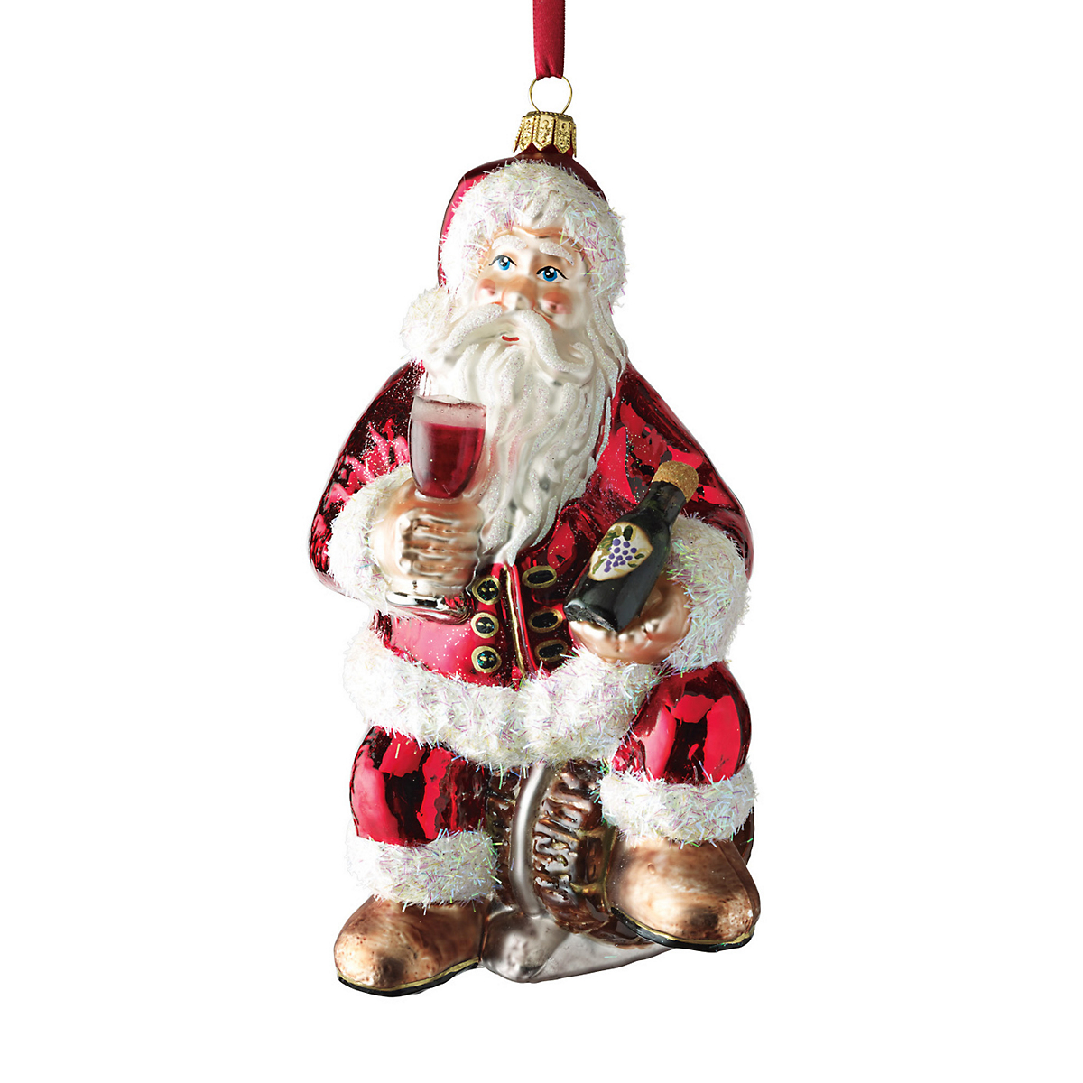 Vintner Santa Ornament