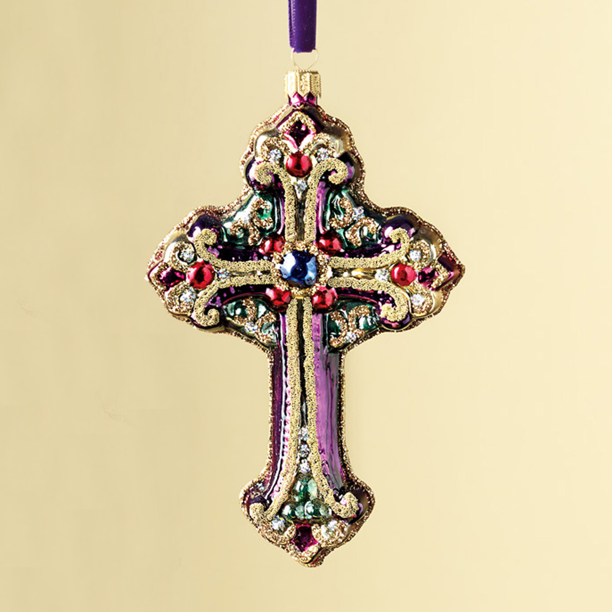 Holy Night Cross Ornament