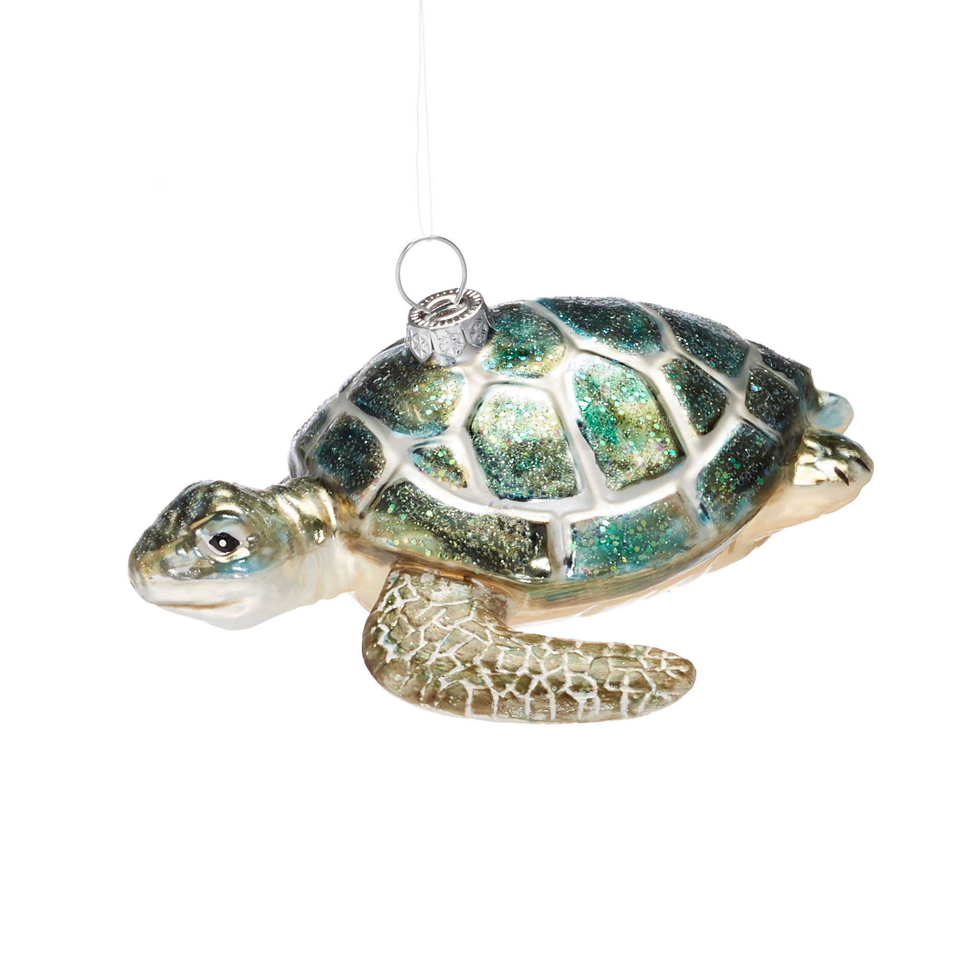 Under-The-Sea Swimming Sea Turtle Christmas Ornament