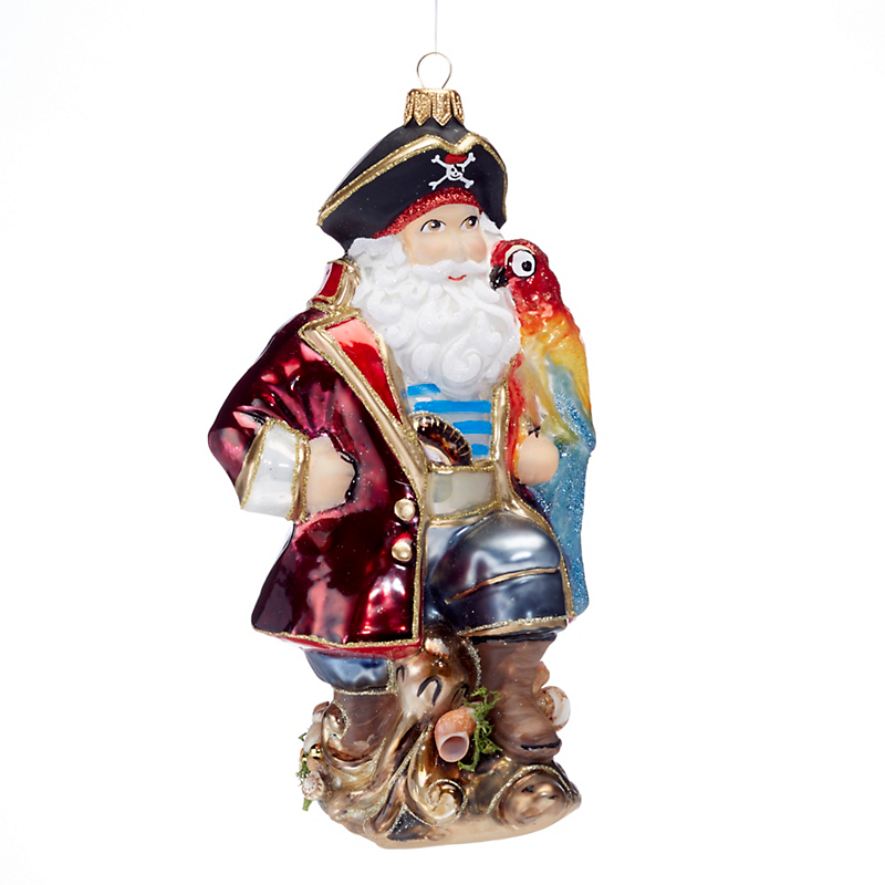 Pirate Santa Christmas Ornament