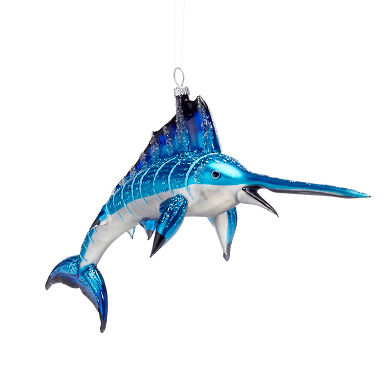 Blue Marlin Christmas Ornament