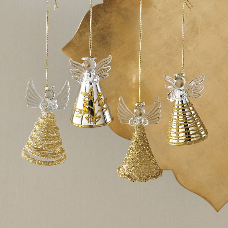 Gold Angel Ornaments