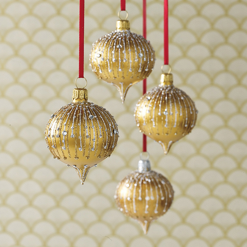 Glitter Onion Ornaments