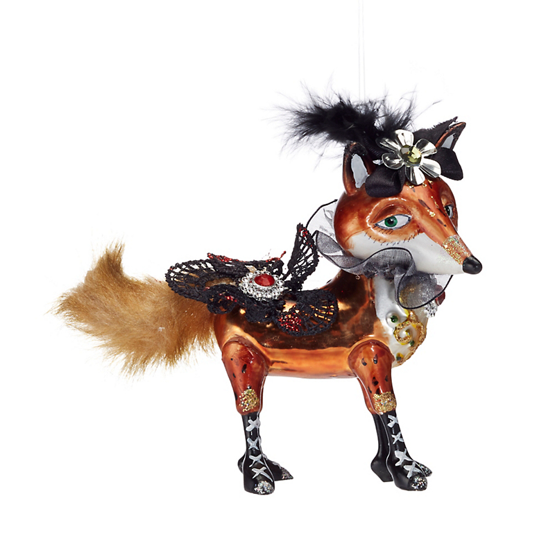 Festive Follies Fox With Feathers Ornament